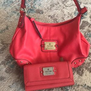 Nicole by Nicole Miller Satchel purse and wallet